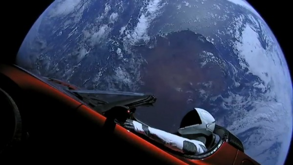 Starman a bordo del Tesla