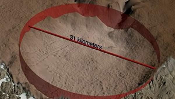 Hallan en Groenlandia un cráter del tamaño de París causado por el impacto de un meteorito 1