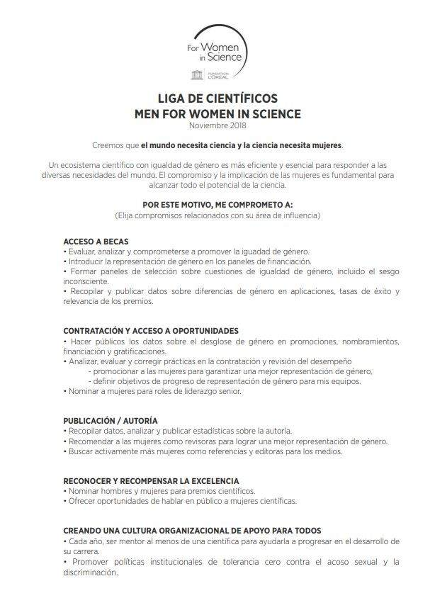 Carta firmanda por los científicos