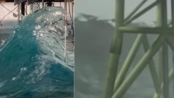 Así han recreado la ola gigante de 25 metros que se formó en 1995 en el Mar del Norte