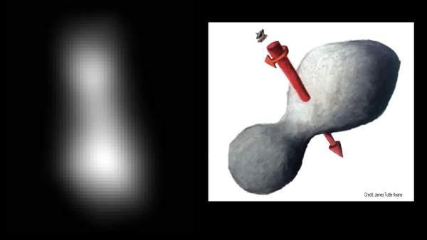 La primera imagen de Ultima Thule: es un solo asteroide con una forma similar a un cacahuete