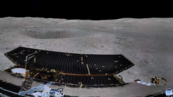 Panorámica de la cara oculta de la Luna