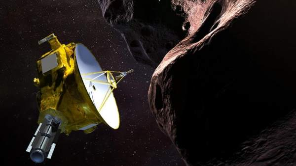 Recreación artística de la sonda New Horizons en Ultimate Thule