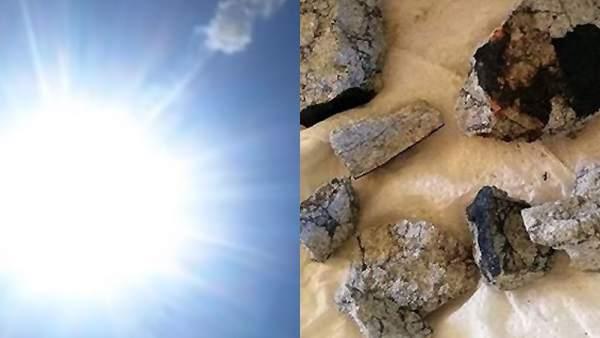 Explosión de un meteorito