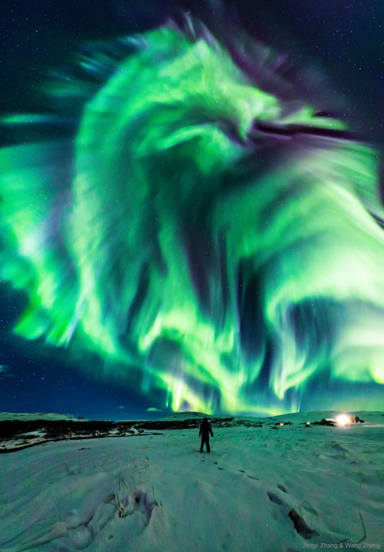 Una Espectacular Aurora Boreal Con Forma De Dragon Ilumina El Cielo Nocturno De Islandia 1, Planeta Incógnito