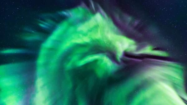 Una Espectacular Aurora Boreal Con Forma De Dragon Ilumina El Cielo Nocturno De Islandia, Planeta Incógnito