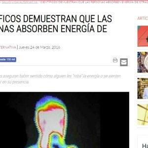 """No. Los Científicos no demuestran que las personas """"Roban Energía""""."""