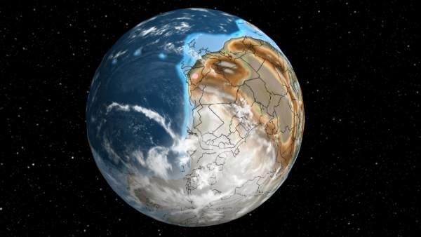 El mapa que te dice qué hay ahora donde estaba tu ciudad hace 7.500 millones de años