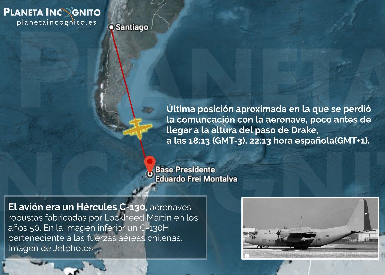 Breve infografía del vuelo del avión desaparecido en Chile este 9 de Diciembre