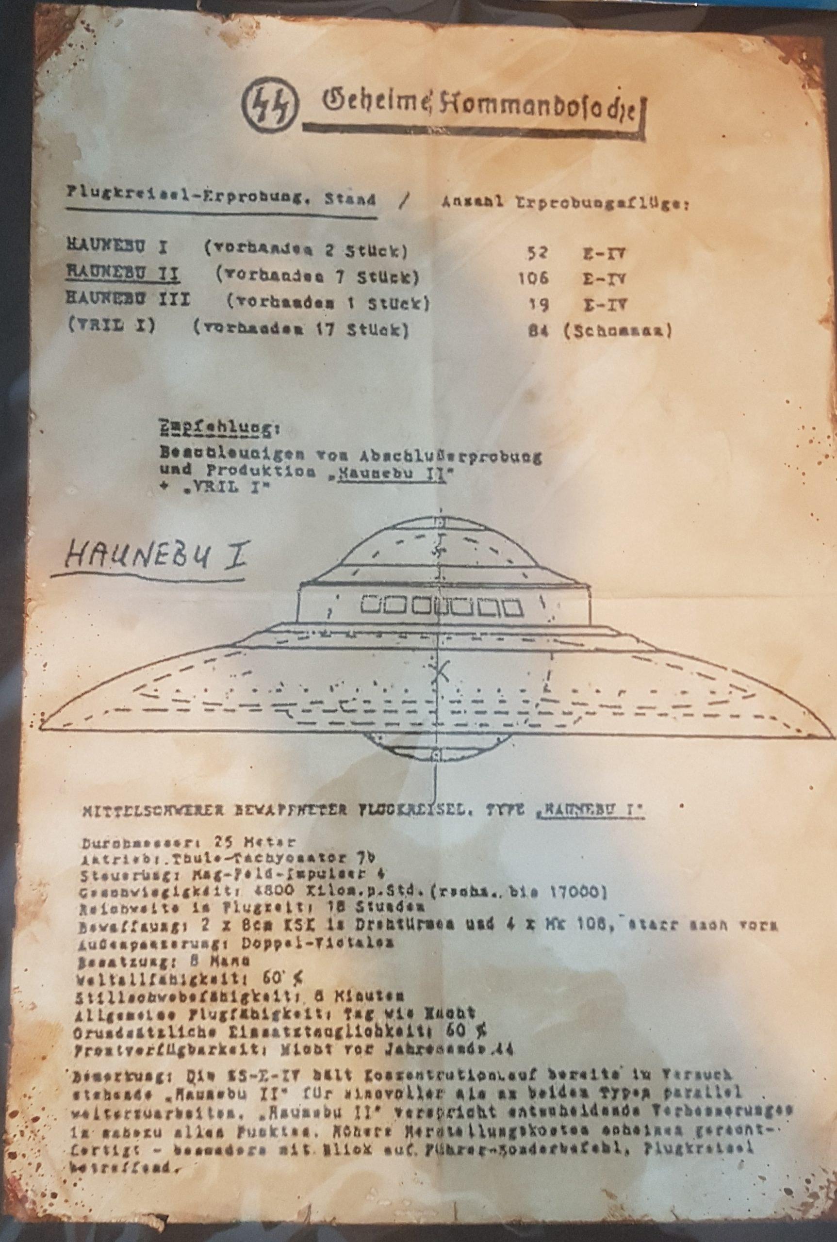 HAUNEBU, la leyenda del Ovni Nazi 4