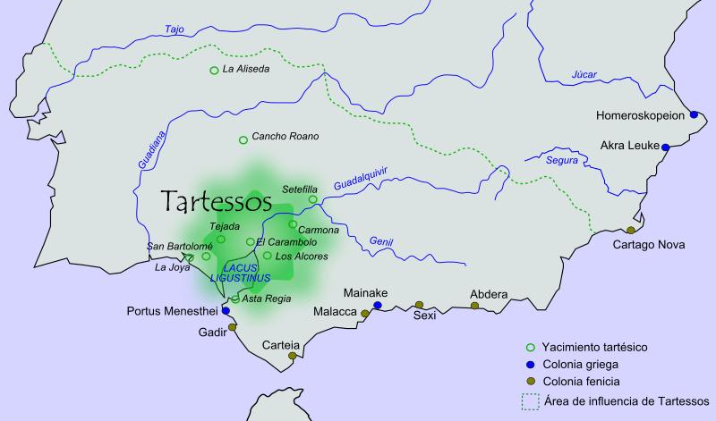 Emplazamiento de Tartessos en la península ibérica