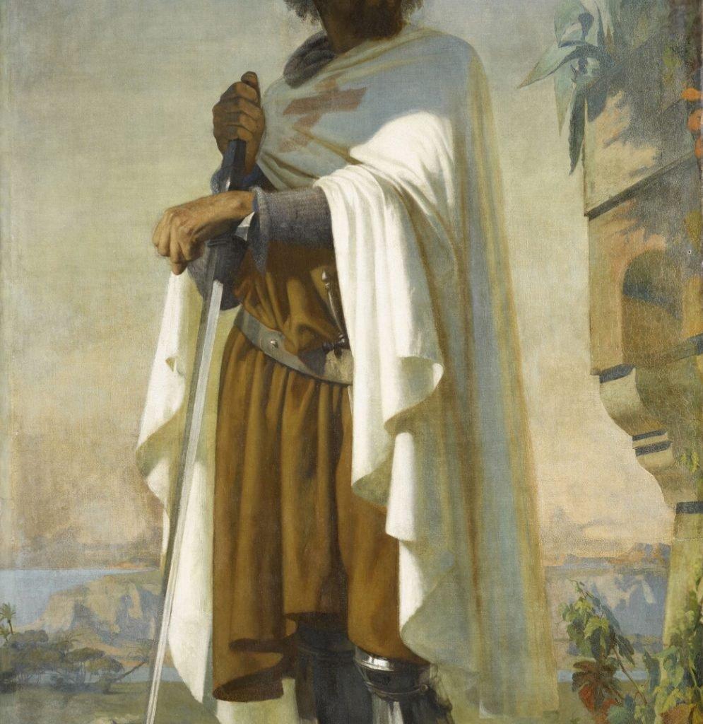 Hugo de Payens, Primer gran maestre de la orden del temple- óleo sobre lienzo del siglo XIX - Colecciones Chateau Versailles- templario