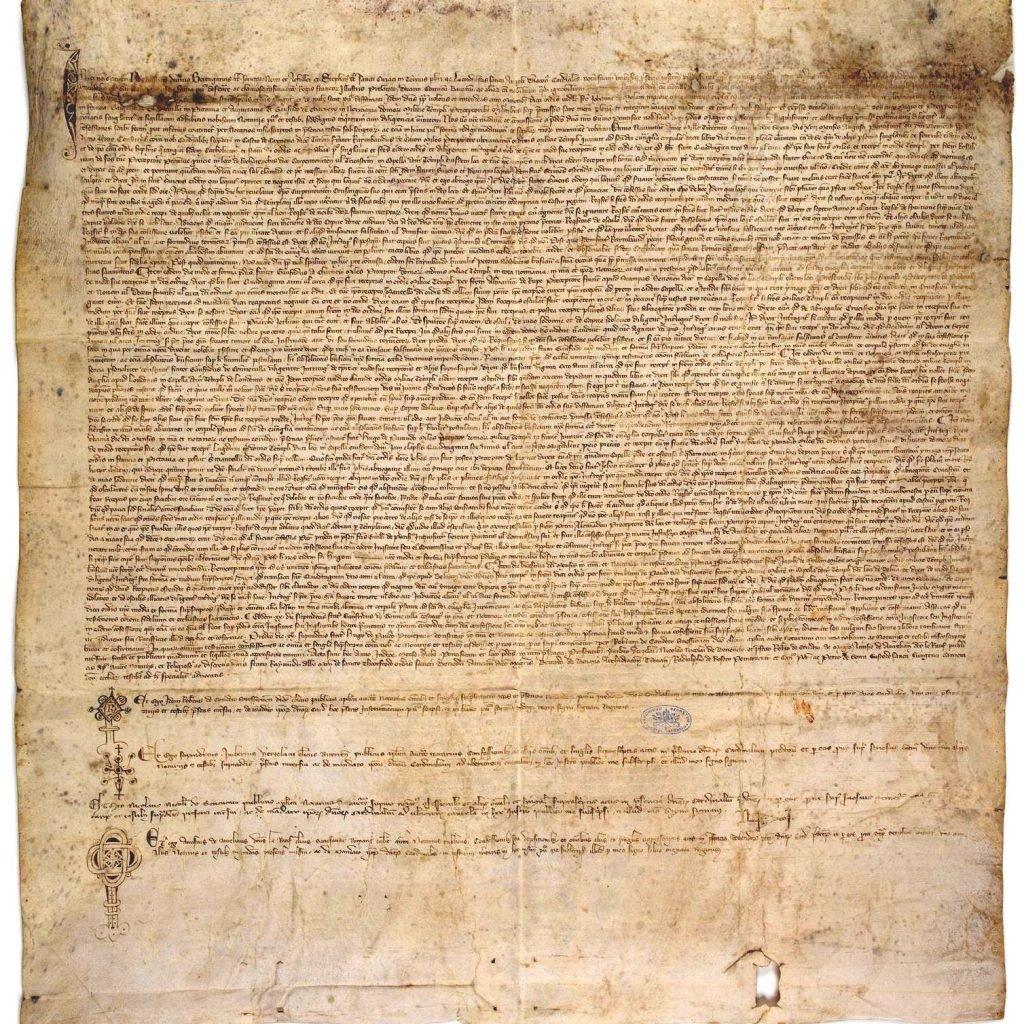El pergamino de Chinon contiene la absolución del papa Clemente V a los Templarios