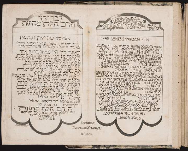 La Tabla de Esmeralda o Tabla Esmeralda es un texto breve, de carácter críptico, atribuido al mítico Hermes Trismegisto, cuyo propósito es revelar el secreto de la sustancia primordial y sus transmutaciones. Hasta el siglo XX, las fuentes más antiguas conocidas eran manuscritos medievales, pero investigaciones posteriores han hallado predecesores arábigos en Kitab Sirr al-Khaliqa wa Sanat al-Tabia (c. 650 d.C.), Kitab Sirr al-Asar (c. 800 d.C.), Kitab Ustuqus al-Uss al-Thani (siglo XII) y Secretum Secretorum (c. 1140).